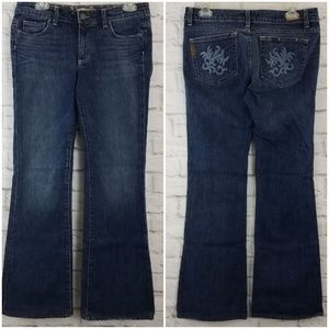 Paige Hollywood Hills Jeans Embroidered Boot cut